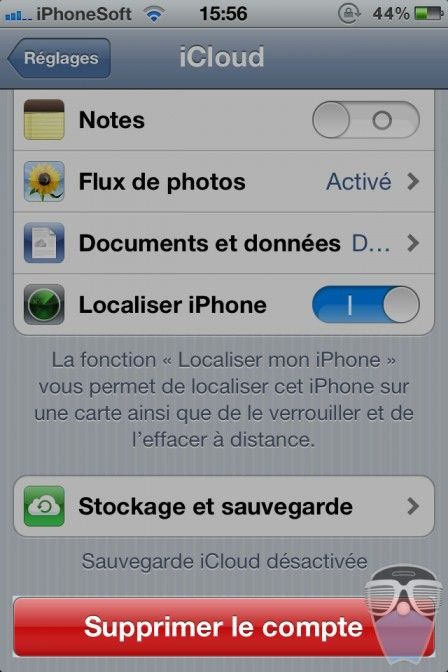 supprimer compte icloud iphone 2