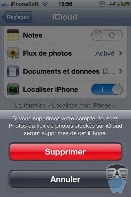 supprimer compte icloud iphone 3