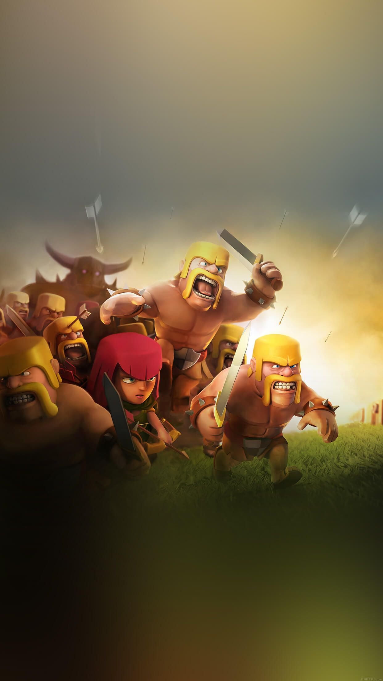 clash of clans iphone 7 plus wallpaper