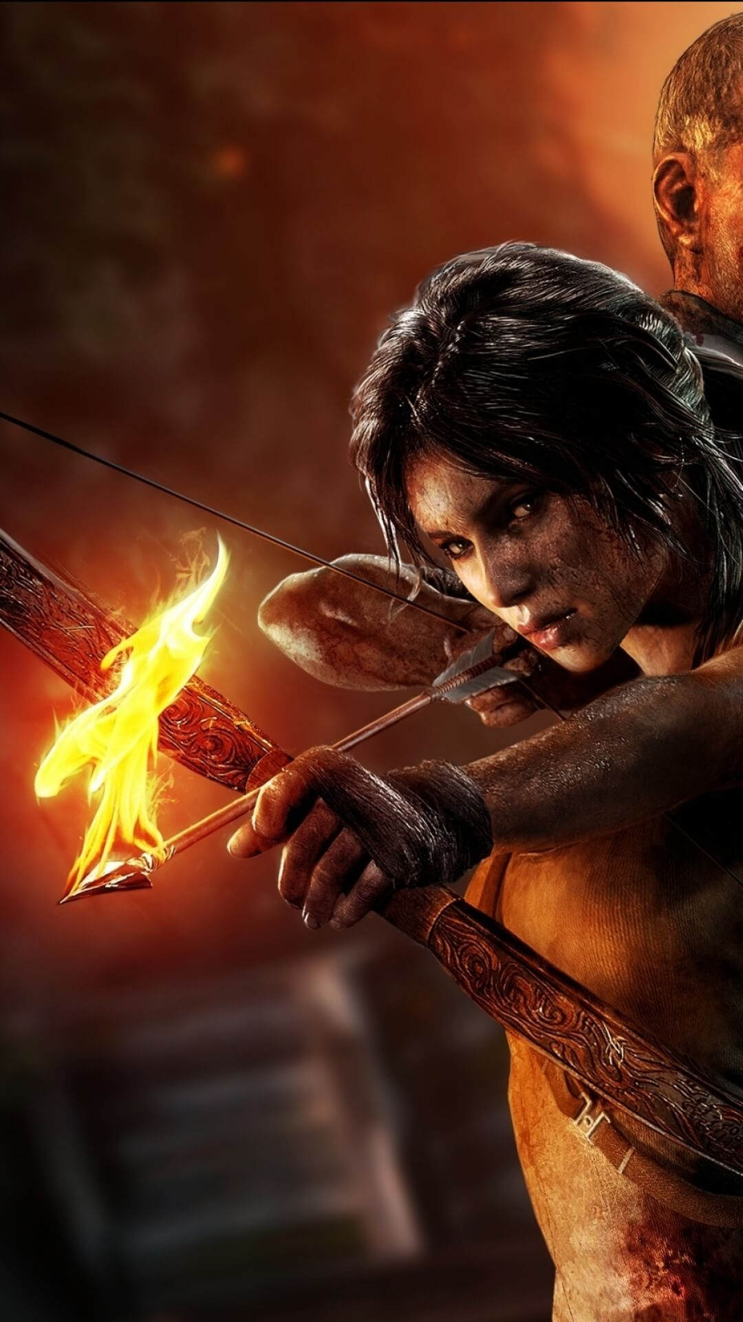 tomb raider lara croft iphone 7 wallpaper