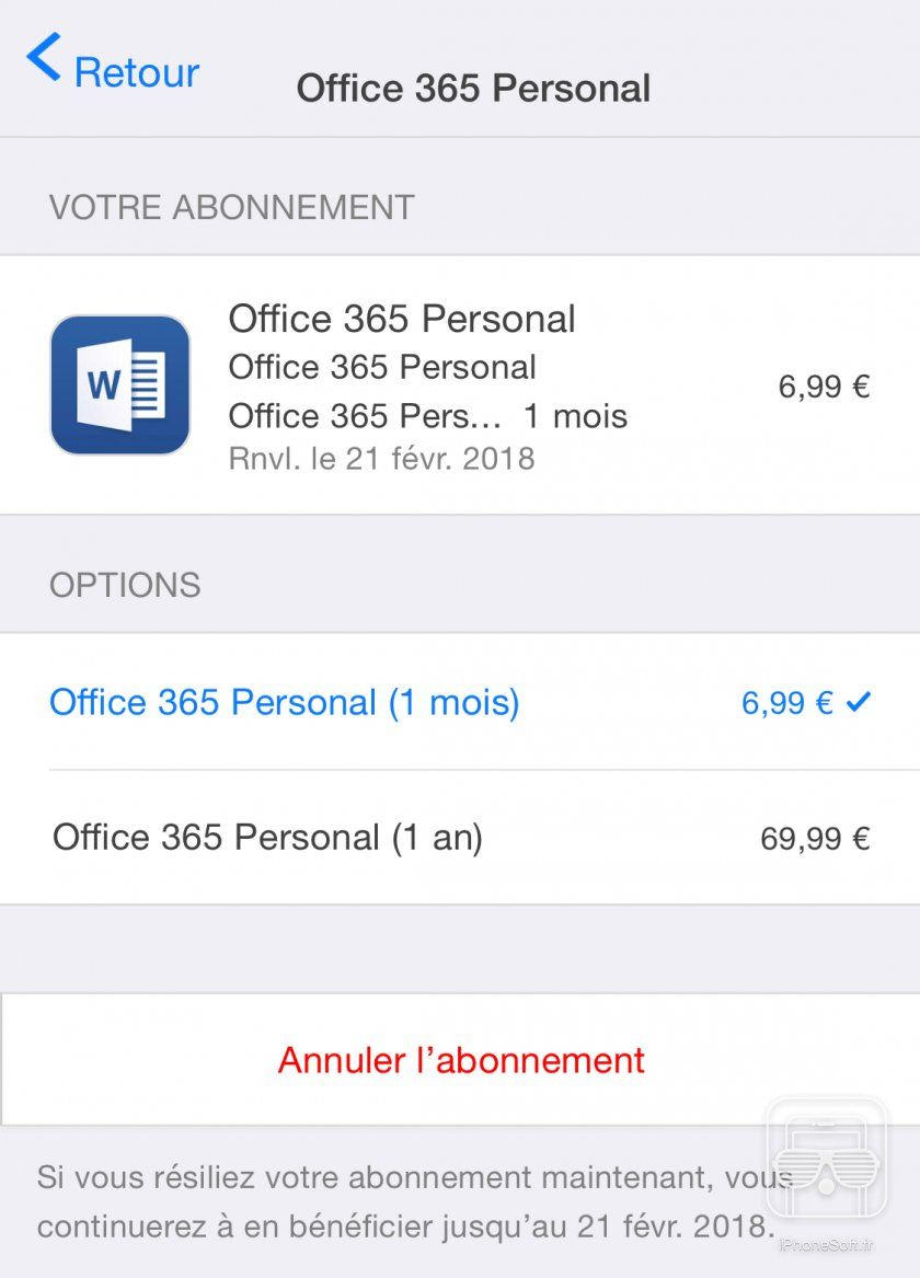 Arreter Abonnement In App Ios 11