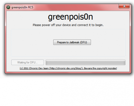 Tutoriel :Jailbreak untethered 4.2.1 Greenp0ison Windows