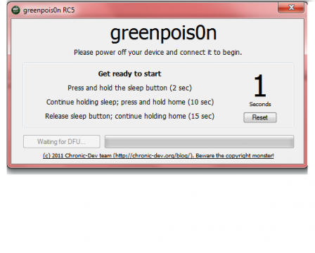 Tutoriel : Jailbreak untethered 4.2.1 Greenp0ison Windows