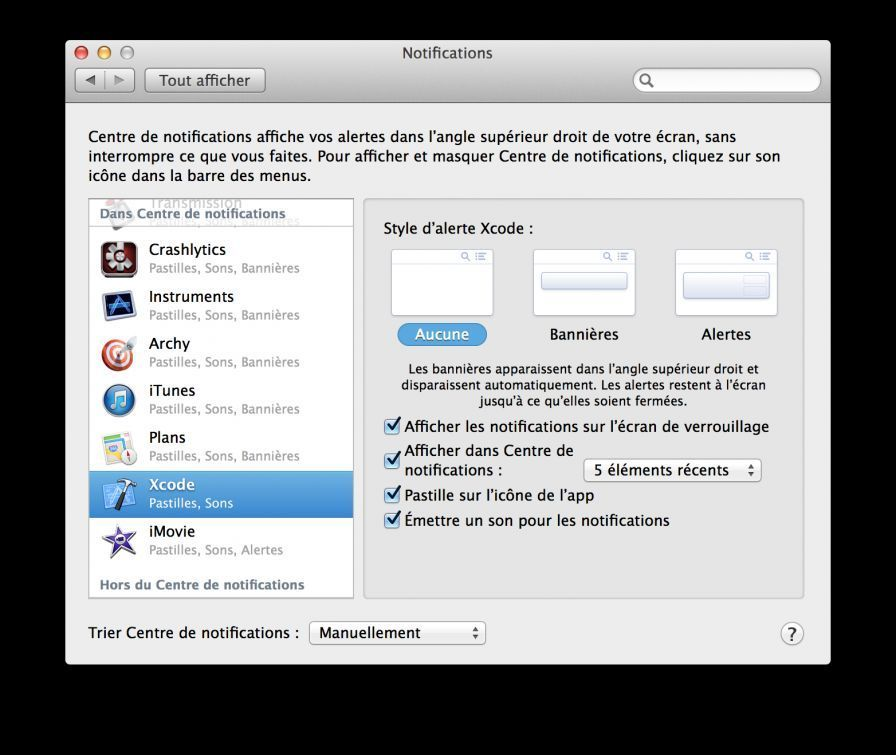 notification mac comment faire