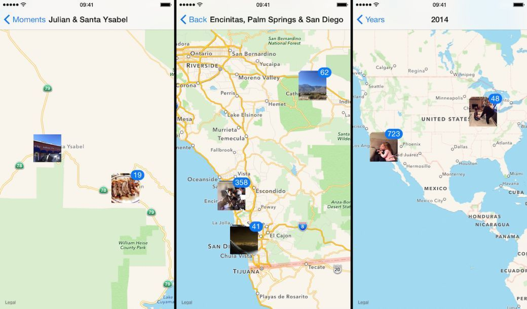location moments collections years photos app