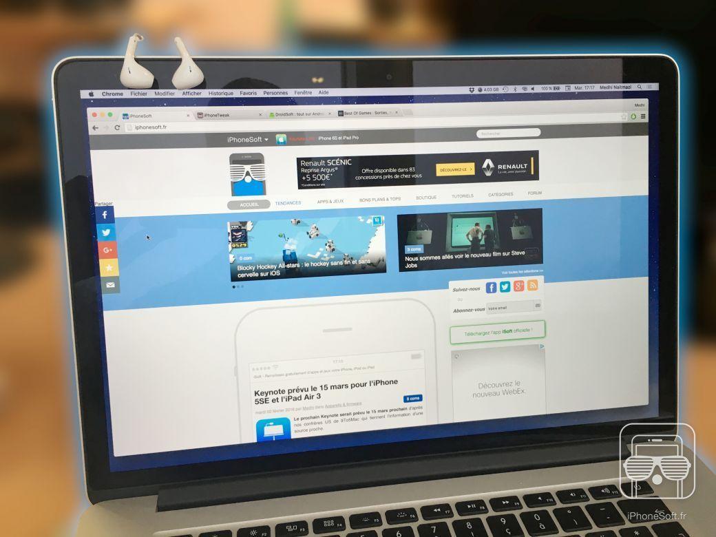 Comment accrocher ses couteurs d 39 iphone sur son macbook - Comment nettoyer ses ecouteurs ...