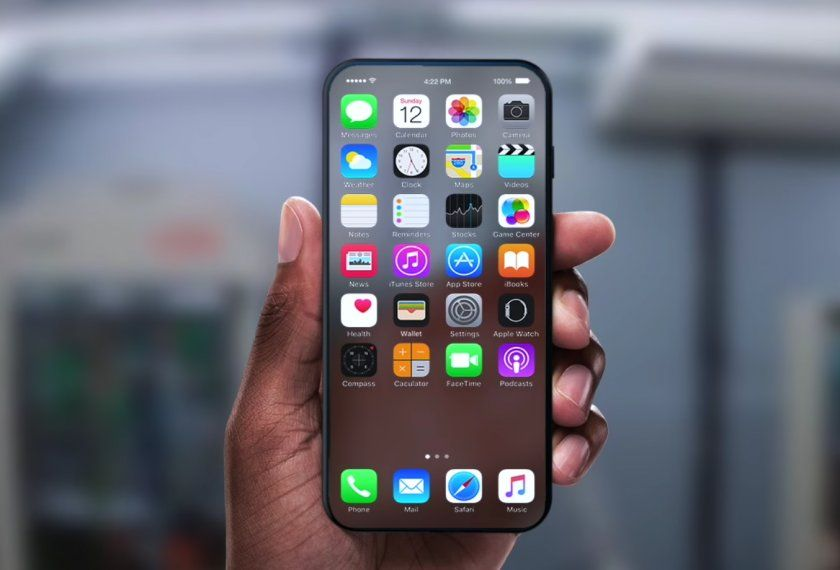 concept iphone 8 ecran transparent