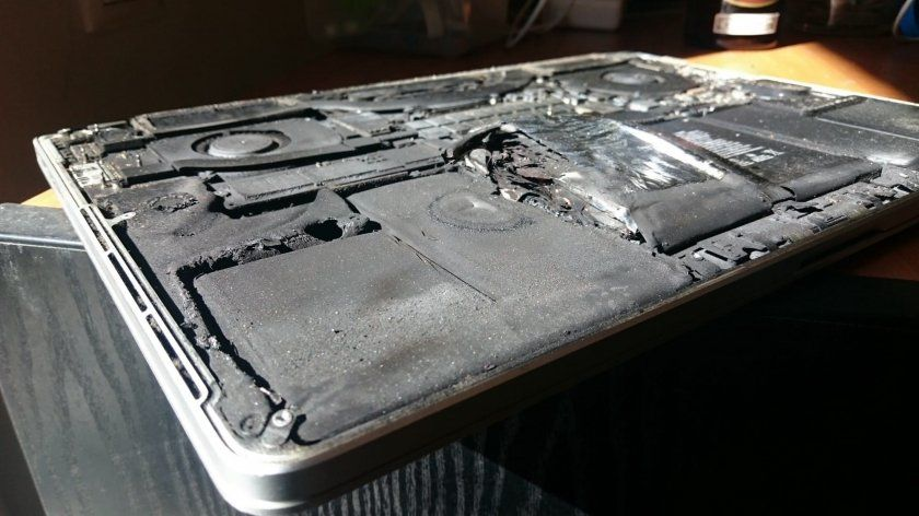 macbook pro explosion batterie