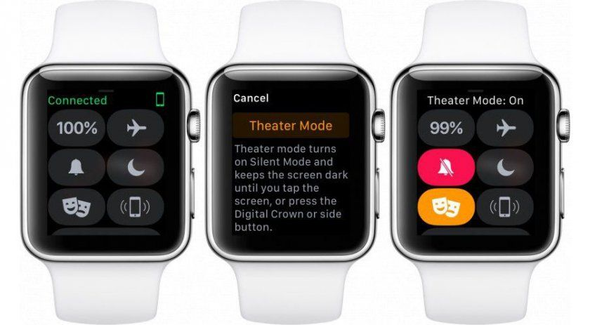 mode cinema apercu watchos