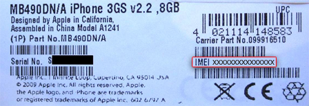 comment trouver numero imei iphone 5