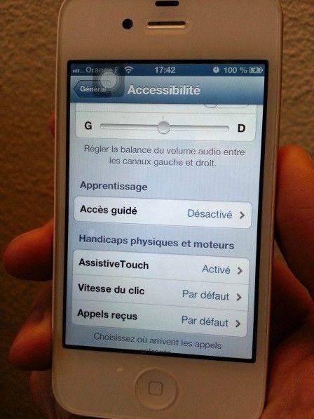 Comment éteindre l'iPhone, faire une capture ou changer le volume sans bouton