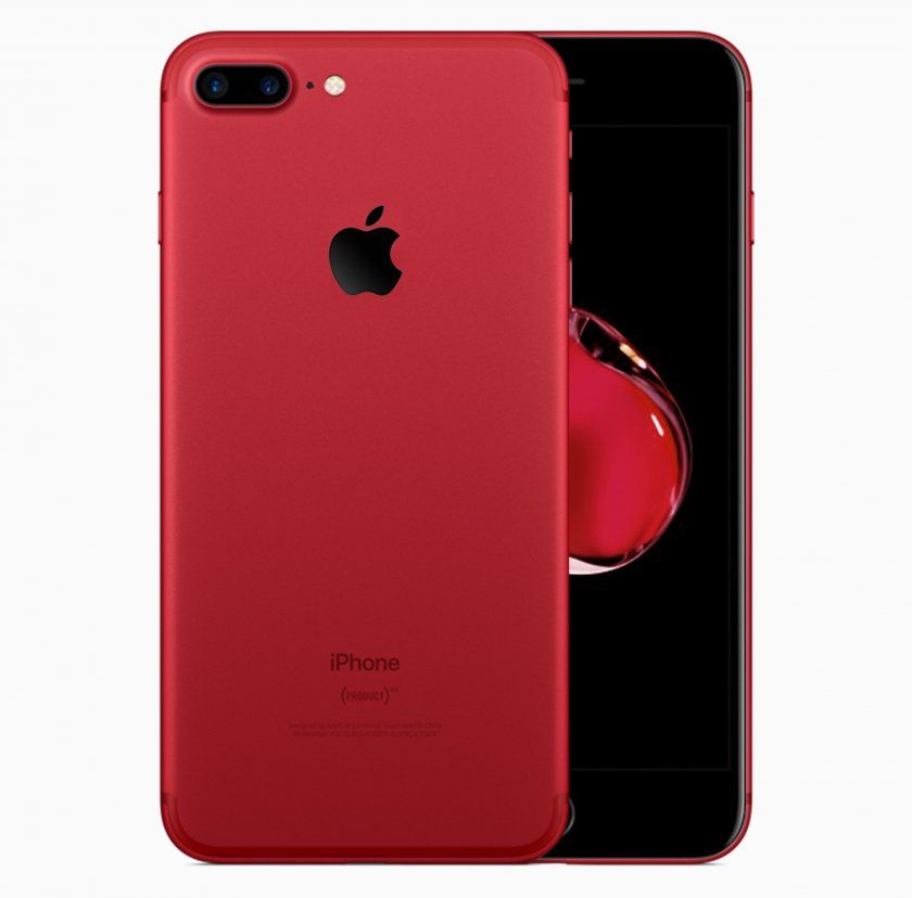 iphone 7 red rouge noir 1
