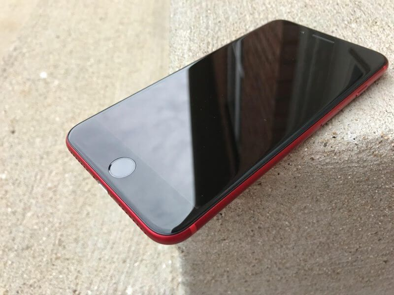 iphone 7 rouge avant noir