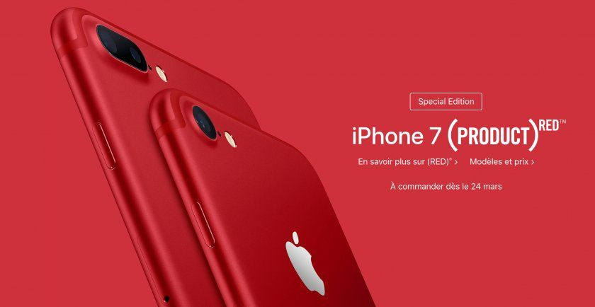 iPhone 7 rouge : la version (RED) dévoilée !