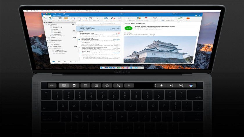 outlook 2016 adds touch bar 1