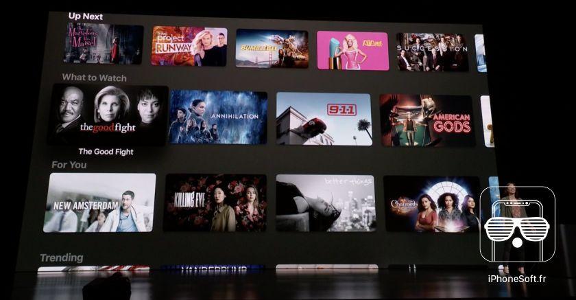 apple tv interface