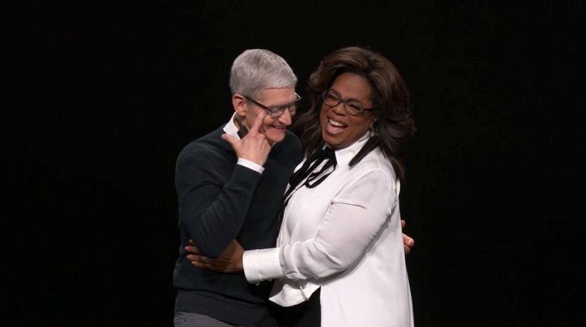Oprah et Tim Cook à la keynote apple