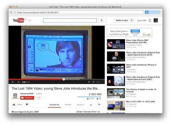 Outils de telechargement sur youtube