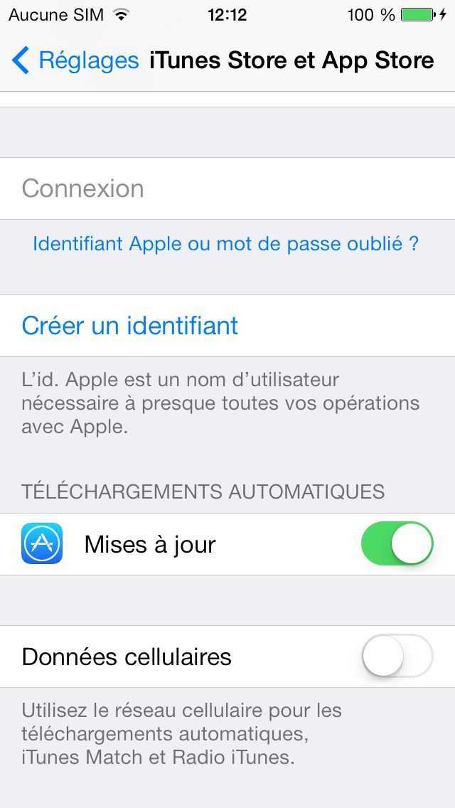 tuto comment desactiver mise a jour ios 7 iphone ipad