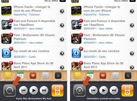 comment arreter la rotation sur iphone