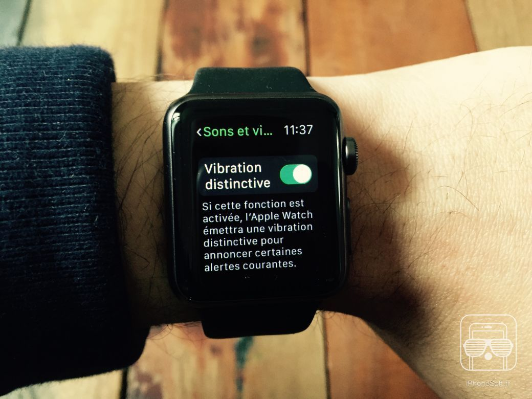 tuto apple watch vibration distinctes