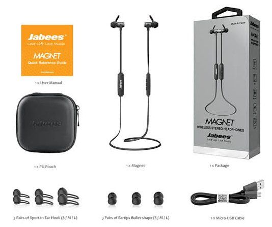 promo couteurs jabees magnet bluetooth 4 1 pour iphone. Black Bedroom Furniture Sets. Home Design Ideas