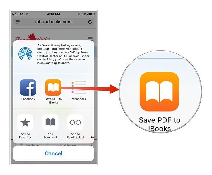 ios 9 safari save pdf