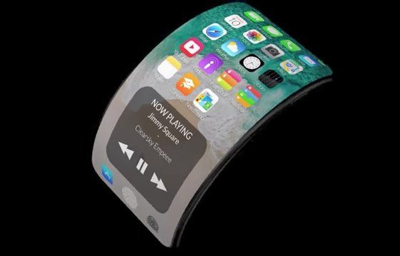 concept d 39 un iphone 8 flexible