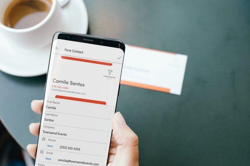 Adobe Scan Peut Enregistrer Les Cartes De Visite Dans Vos Contacts