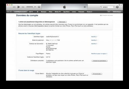 annuler autorisation ordinateurs itunes