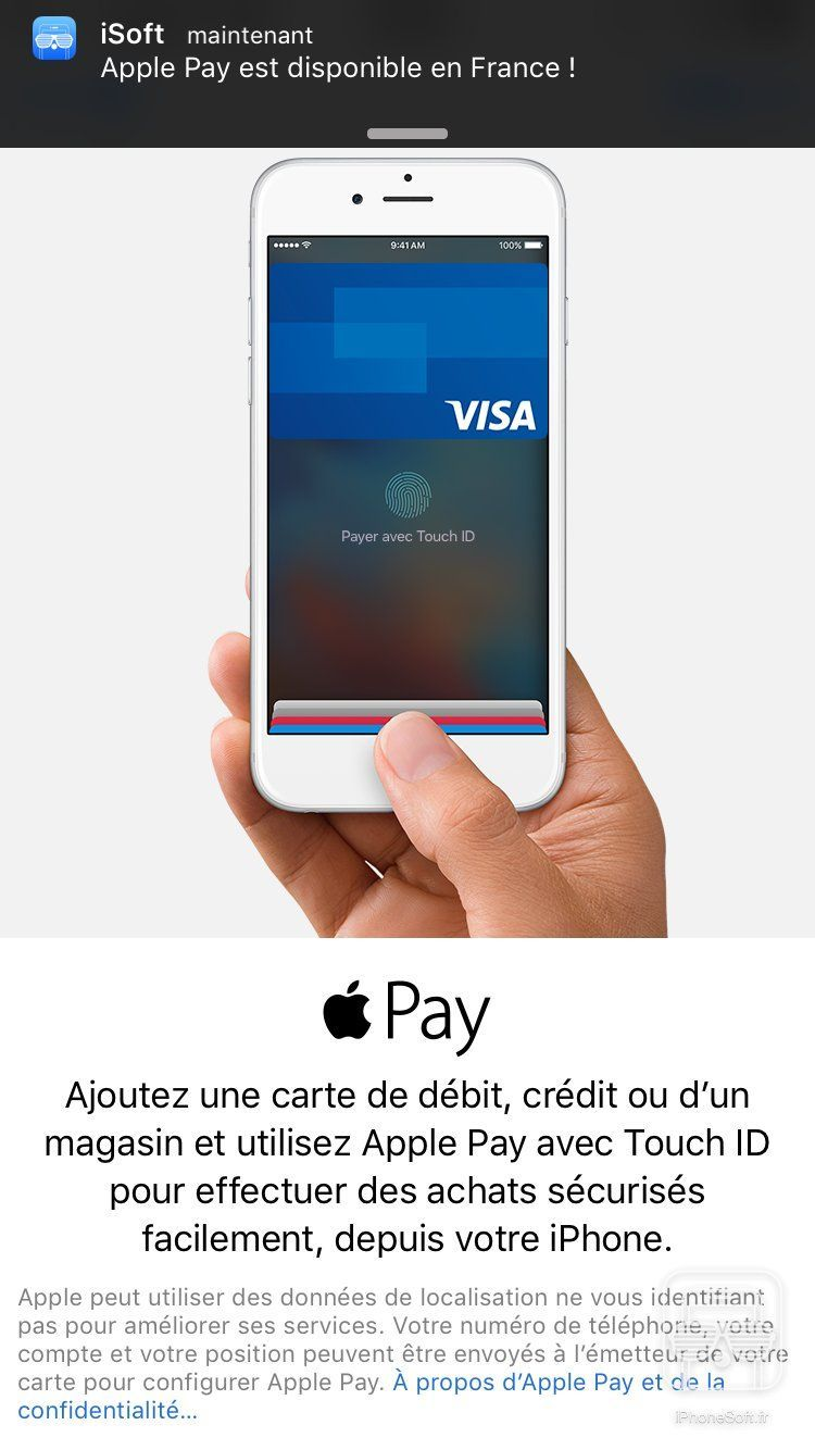 Apple Pay est (enfin) disponible en France !
