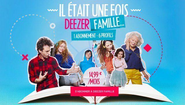 abonnement famille deezer