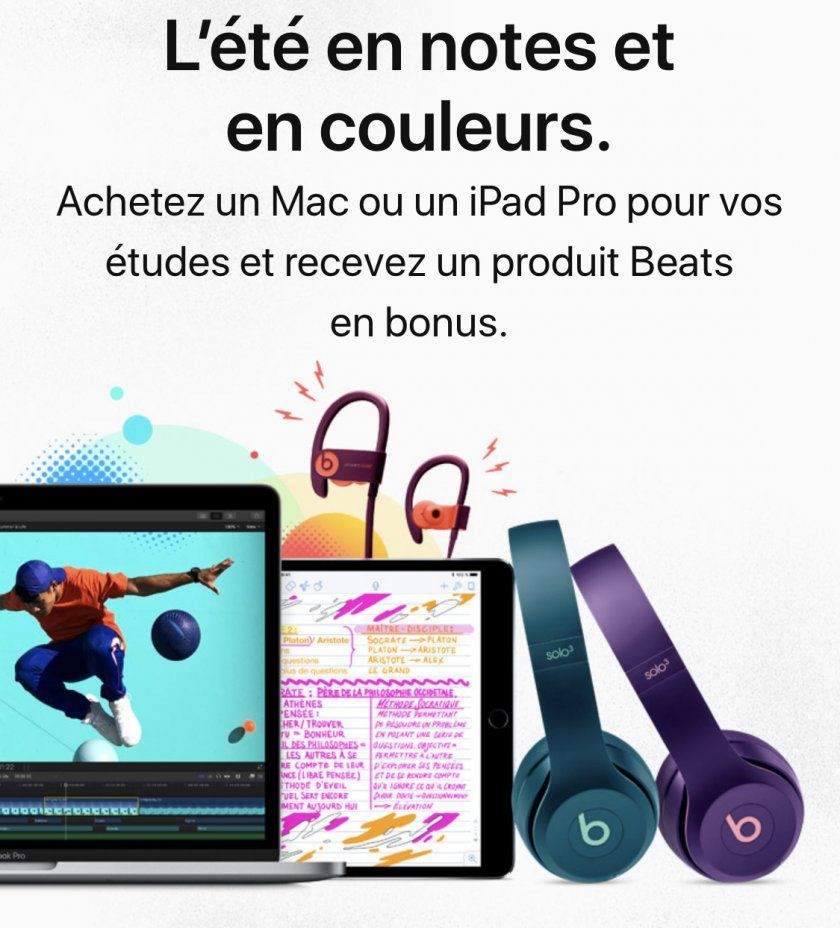 casque b ats offert back to school apple 2018
