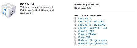 beta 6 - iOS 5