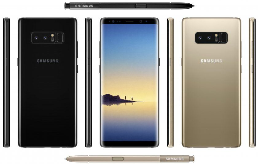 galaxy note 8 photo officielle rendu