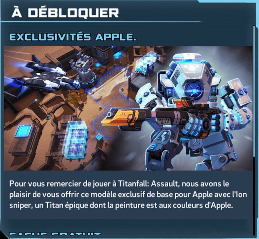 titan ion exclusif apple ios titanfall offre rts jeu strategie