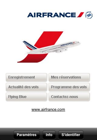 air france atterrit sur app store. Black Bedroom Furniture Sets. Home Design Ideas