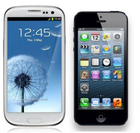 Comparatif iPhone 5 - Galaxy S3