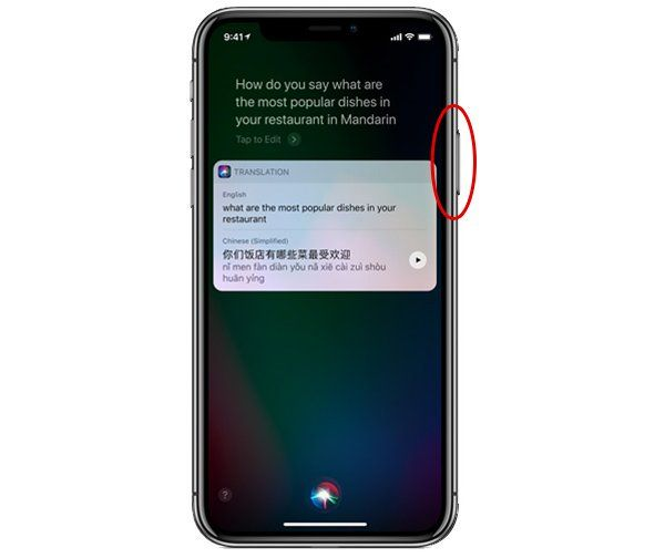 iphone x appeler siri