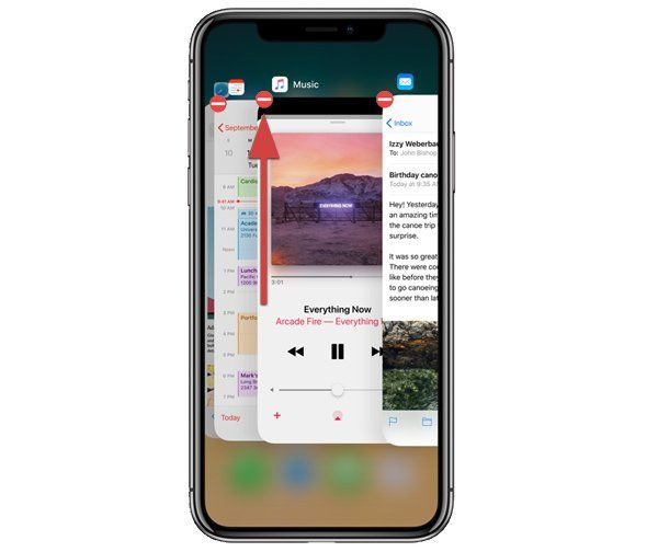 iphone x fermer app multitache close app