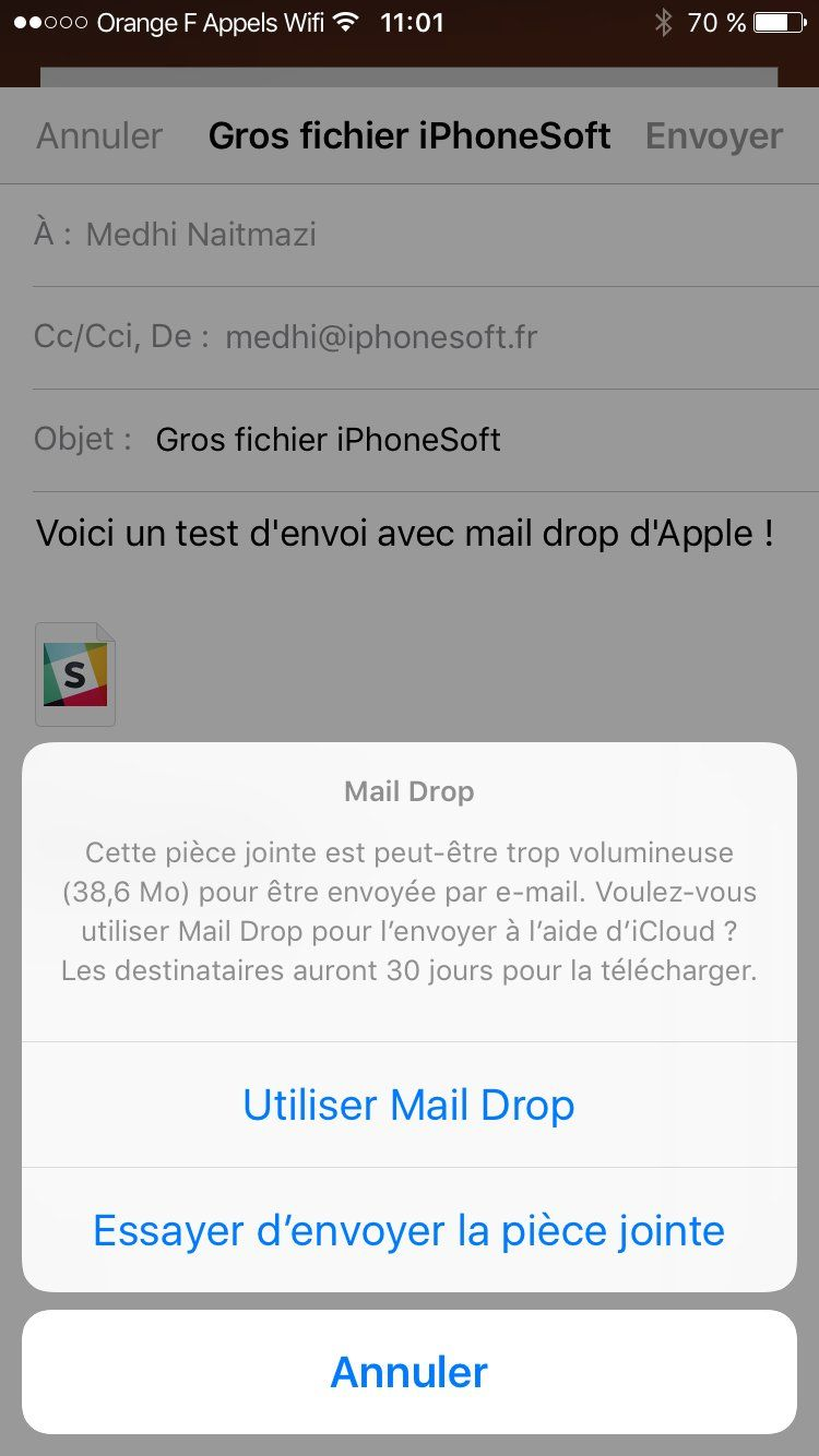 mail drop isoft tuto