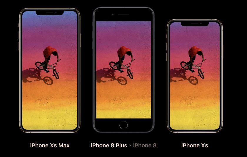 iphone xs xs max vs 8 officiel