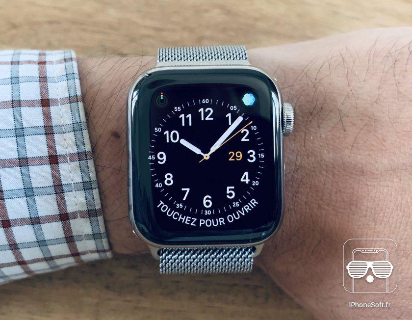 140a0df406f5f6 Test de l Apple Watch 4 (modèle acier)