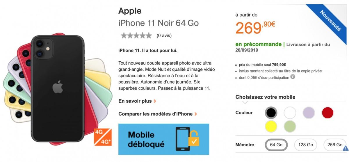 sfr orange et bouygues le vrai prix de l 39 iphone 11 partir de 269 iphone soft