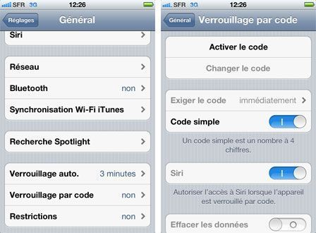 comment arreter gps iphone 4