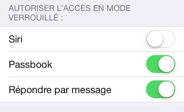 autorisation ios7