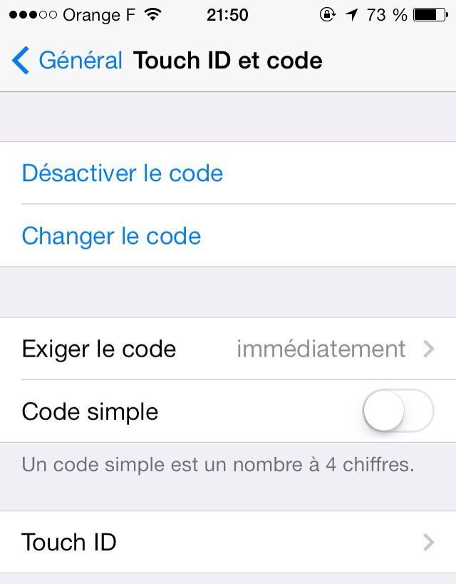 touch id code ios7