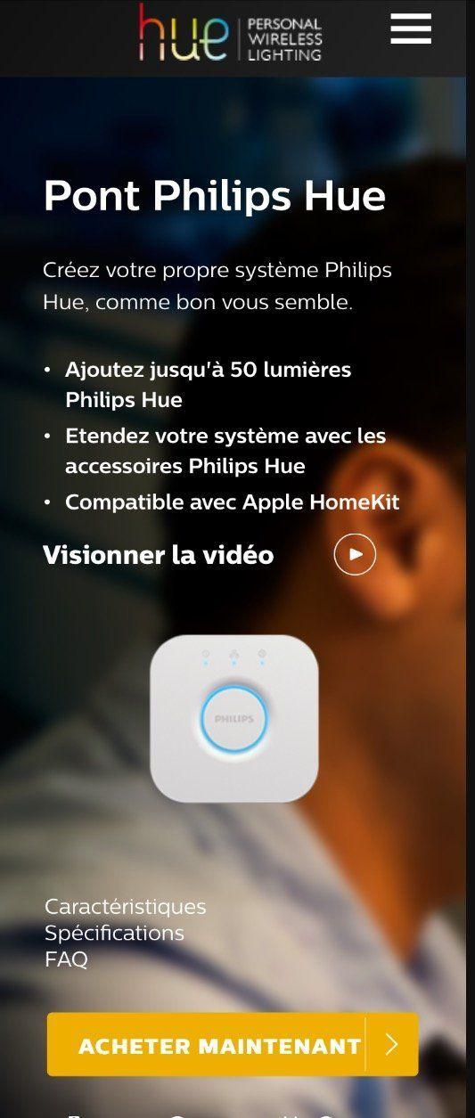 Siri dit bonjour philips hue avec homekit - Pont philips hue ...
