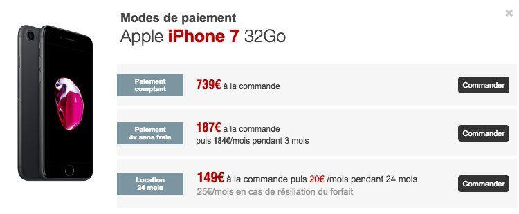 free mobile propose l 39 iphone 7 la location 20 par mois. Black Bedroom Furniture Sets. Home Design Ideas