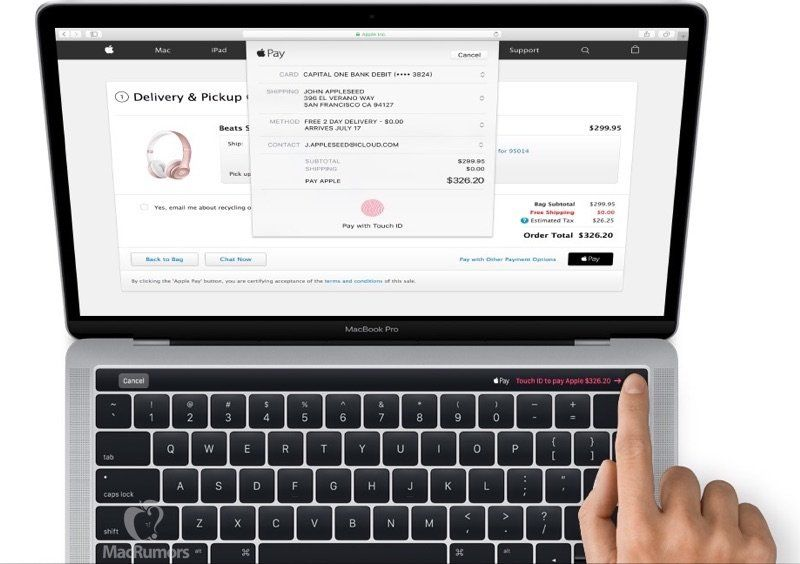 macbook pro touch id 2017